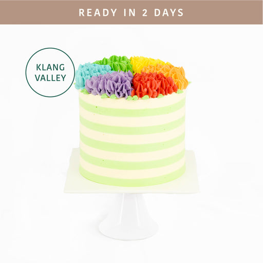 Rainbow Hydrangea Cake - Cake Together - Online Birthday Cake Delivery