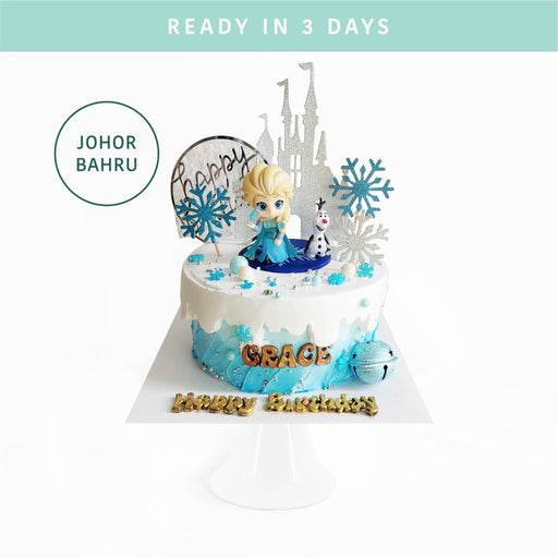 Frozen Elsa Snowflake Cake - Cake Together - Online Birthday Cake Delivery