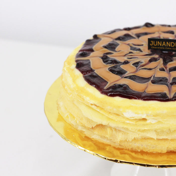 Blueberry & Peanut Mille Crepe 8 inch - Cake Together - Online Birthday Cake Delivery
