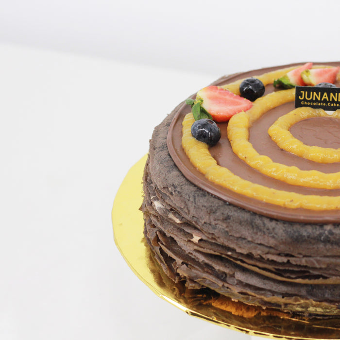 Chocolate Banana Mille Crepe 8 inch - Cake Together - Online Birthday Cake Delivery