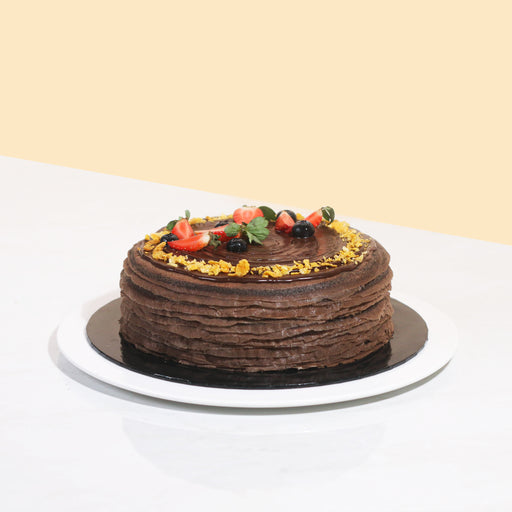 Double Chocolate Crepe Cake 8 inch
