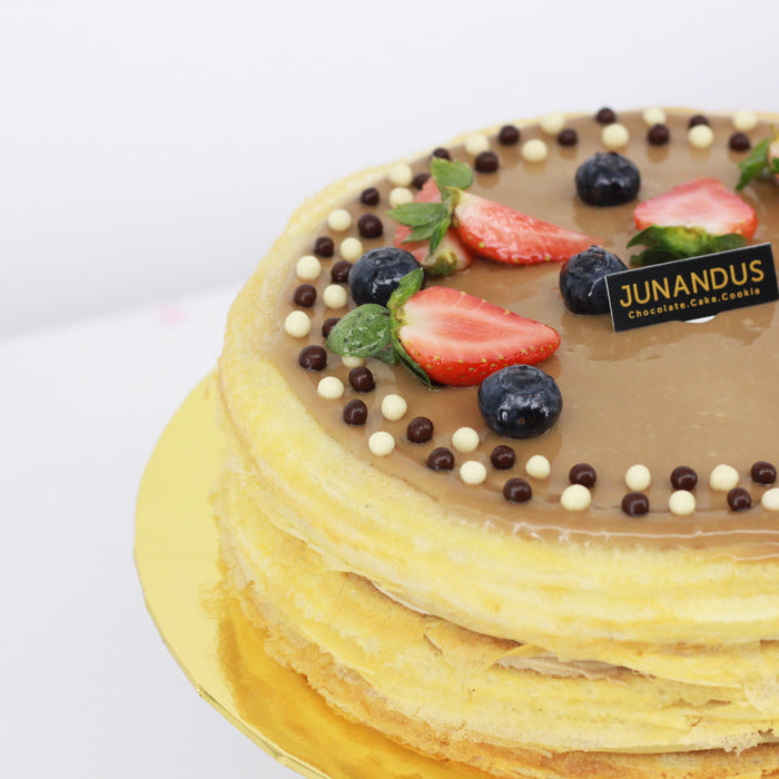Espresso Macchiaoto Mille Crepe 8 inch - Cake Together - Online Birthday Cake Delivery