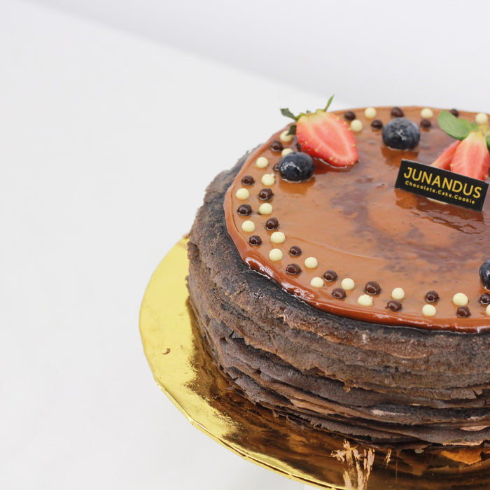 Hazelnut Chocolate Mille Crepe 8 inch | Cake Together