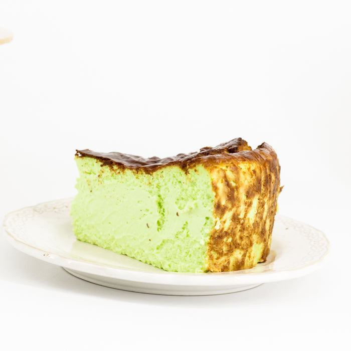 Pandan Burnt Cheese Cake 7.5 inch - Cake Together - Online Birthday Cake Delivery