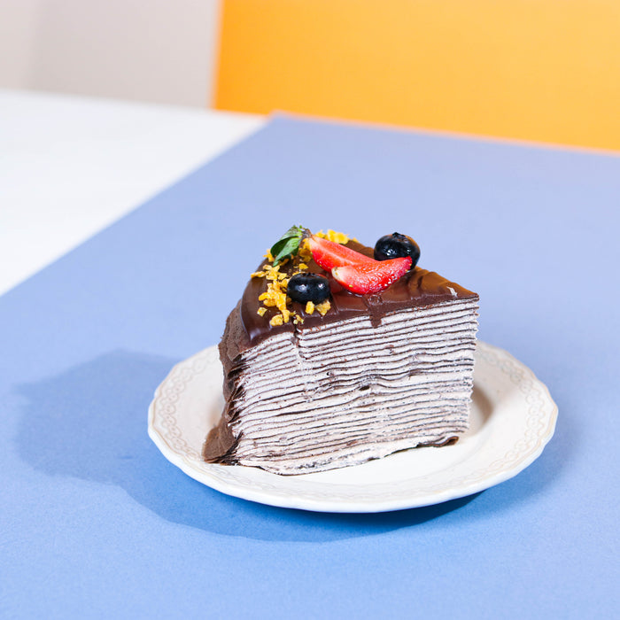 Double Chocolate Crepe Cake 8 inch - Cake Together - Online Birthday Cake Delivery