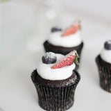 Chocolate Whipped Cream Berries Cupcakes