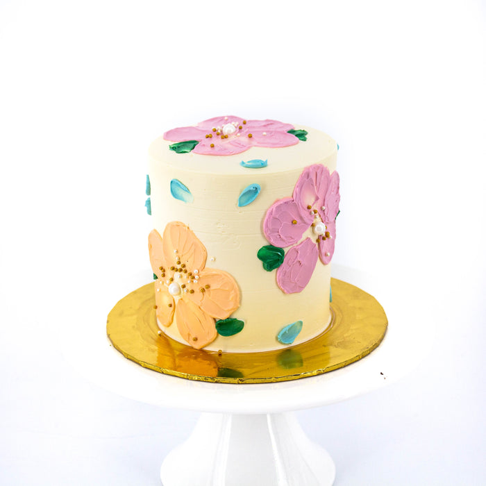 Mini Chocolate Fudge with Painted Flowers  - Cake Together - Online Birthday Cake Delivery