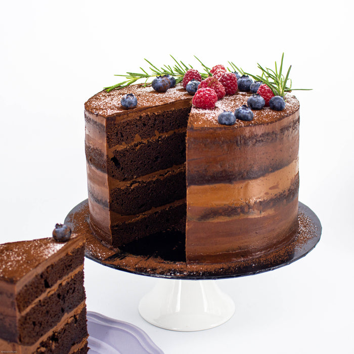 Chocolate Fudge with 71% Chocolate Buttercream - Cake Together - Online Birthday Cake Delivery