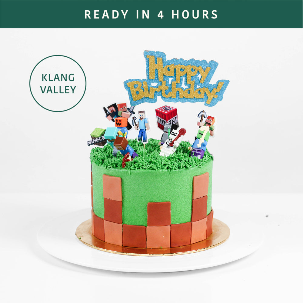 Minecraft Cake - Cake Together - Online Birthday Cake Delivery