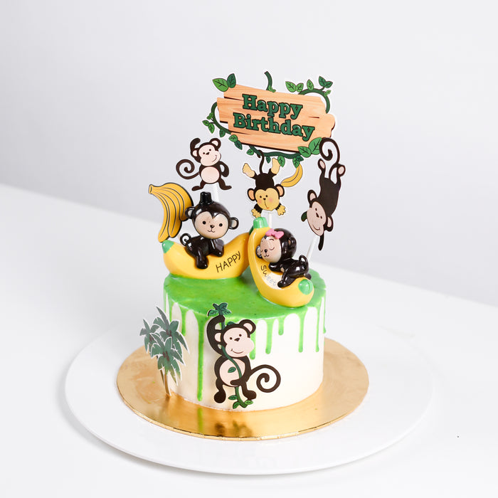 Cheeky Monkeys 5 inch - Cake Together - Online Birthday Cake Delivery