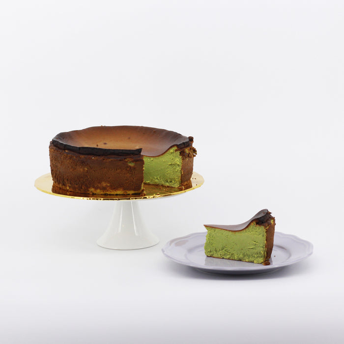 Matcha Burnt Cheesecake 9 inch | Cake Together | Cake Delivery