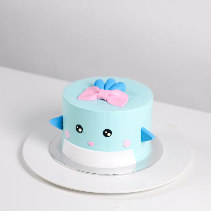My Blue Whale Girl 5.5 inch - Cake Together - Online Birthday Cake Delivery