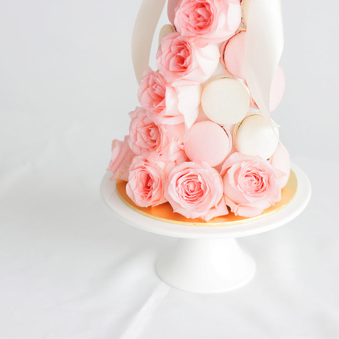 Roses Macaron Tower | Cake Together | Online Cake Delivery
