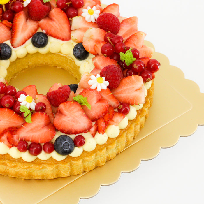 Strawberry Wreath Tart - Cake Together - Online Birthday Cake Delivery