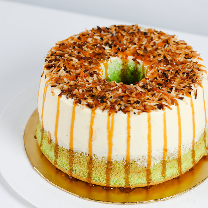 Pandan Chiffon with Coconut Buttercream 8 inch - Cake Together - Online Birthday Cake Delivery