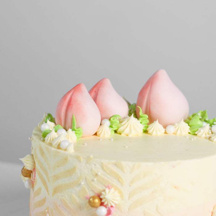 Longevity Peach Cake 5.5 inch - Cake Together - Online Birthday Cake Delivery