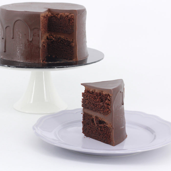 Eggless Belgian Dark Chocolate Ganache Cake
