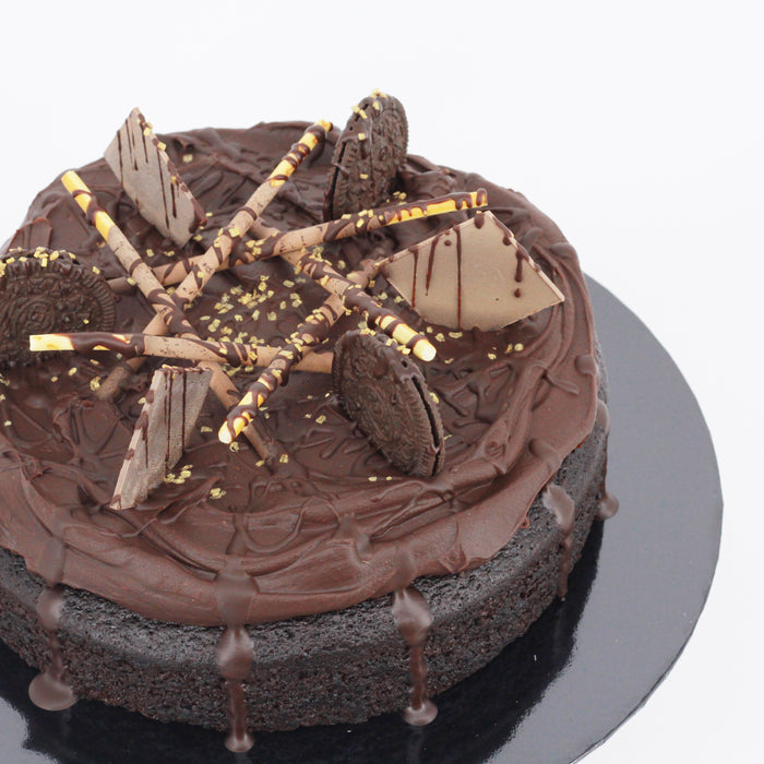 Dark Chocolate Belgian 8 inch - Cake Together - Online Birthday Cake Delivery