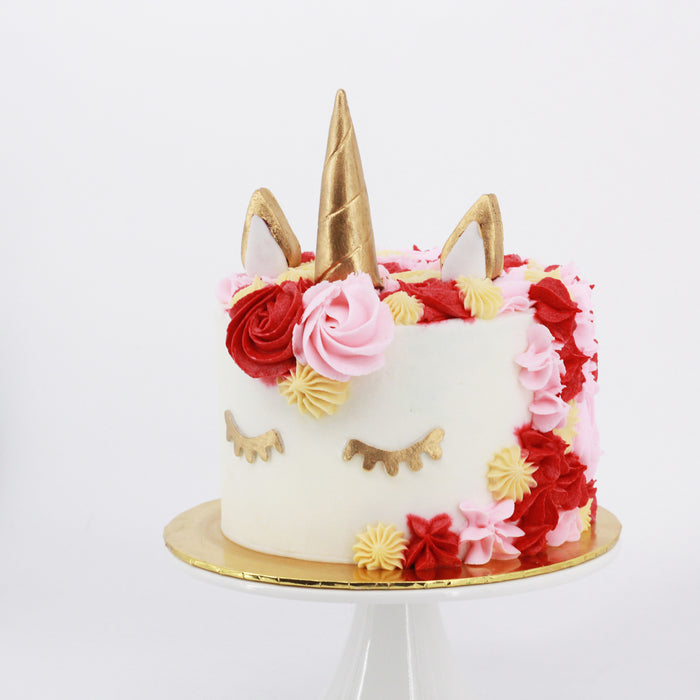 Red Unicorn Cake | Cake Together | Online Birthday Cake Delivery