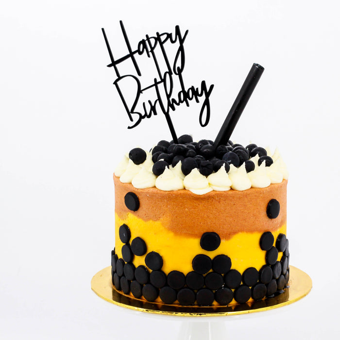 Boba Milk Tea Cake - Cake Together - Online Birthday Cake Delivery