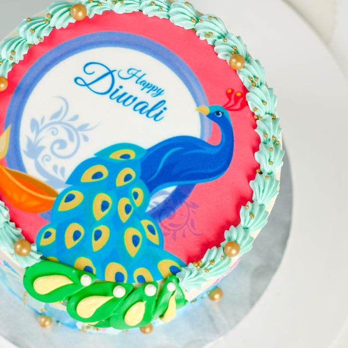 Deepavali Peacock Cake 5.5 inch - Cake Together - Online Birthday Cake Delivery