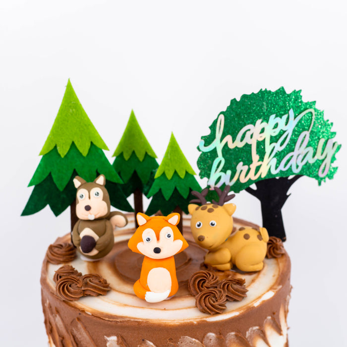 Woodland Animals Cake | Cake Together | Birthday Cake Delivery
