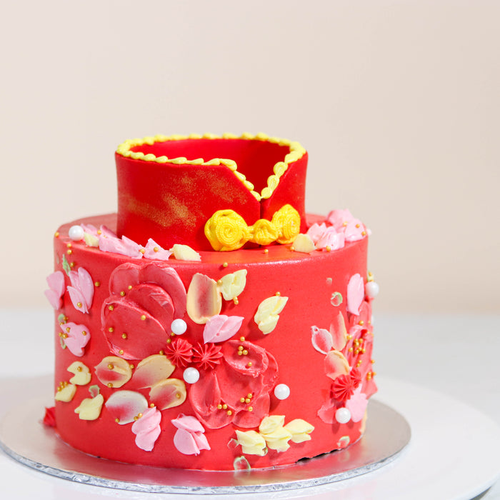 Cheongsam Qipao Cake 5.5 inch - Cake Together - Online Birthday Cake Delivery