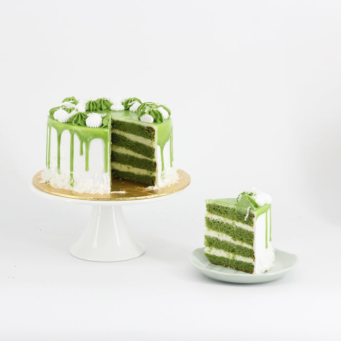 Green Tea Coconut 6 inch - Cake Together - Online Birthday Cake Delivery