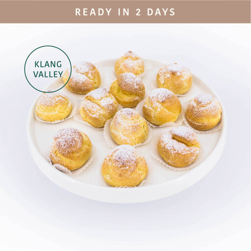 Durian Cream Puffs 24 pieces - Cake Together - Online Birthday Cake Delivery