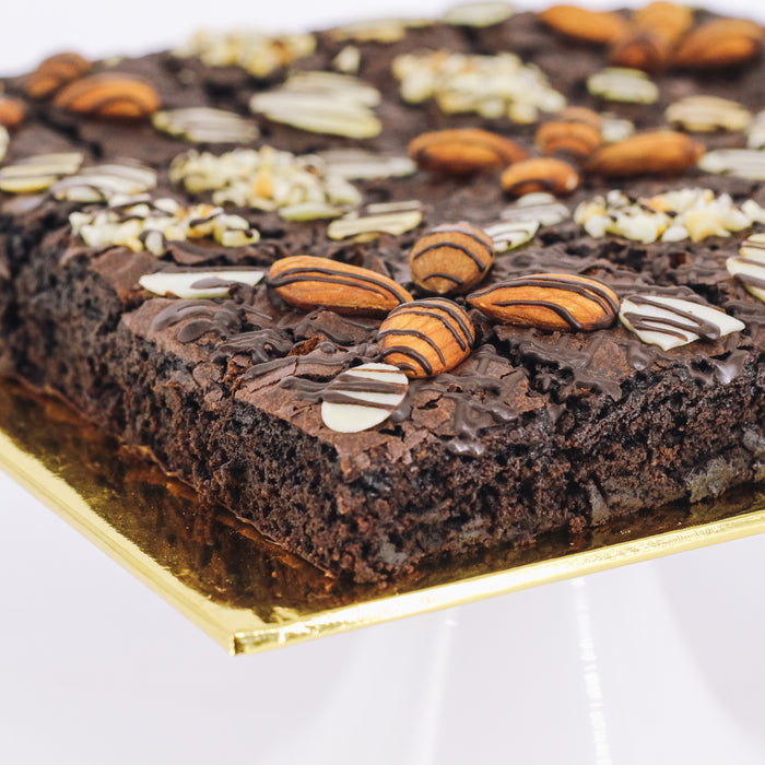 Almond Nutty Brownies 8 inch - Cake Together - Online Birthday Cake Delivery