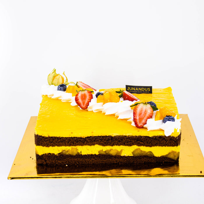 Chocolate Mango Mousse - Cake Together - Online Birthday Cake Delivery