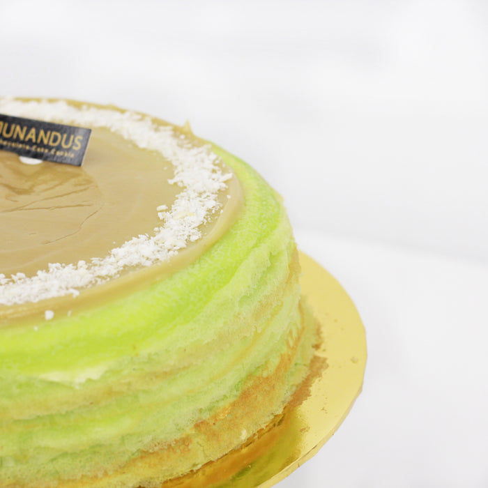 Pandan Kaya Mille Crepe 8 inch - Cake Together - Online Birthday Cake Delivery