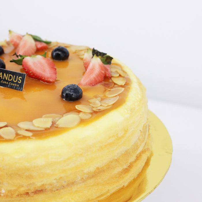 Salted Caramel Almond Mille Crepe 8 inch - Cake Together - Online Birthday Cake Delivery