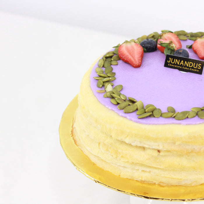 Yam Red Bean and Pumpkin Mille Crepe - Cake Together - Online Birthday Cake Delivery