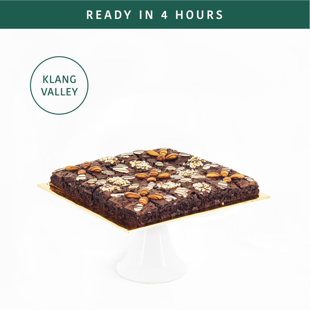 Almond Nutty Brownies 8 inch