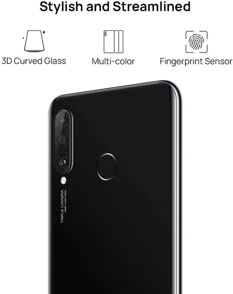 Huawei P30 Lite (128GB 6.15 inch FHD Dewdrop Display,  48MP AI Ultra-wide Triple Camera, 4GB RAM, Android 9.0 Sim-Free,  Single Sim) - Midnight Black