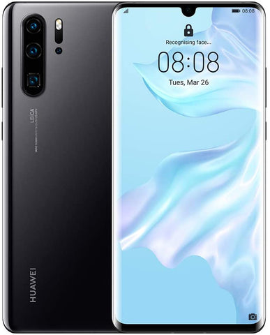 "Huawei P30 Pro (128GB, 6.4"" OLED, Leica Quad AI Camera, 8GB RAM, EMUI 9.1.0, Sim-Free, Android, Single SIM)- Midnight Black"