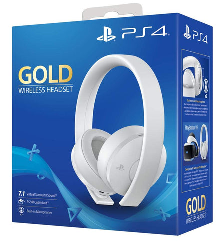 PlayStation 4 Gold Wireless Headset - White Edition