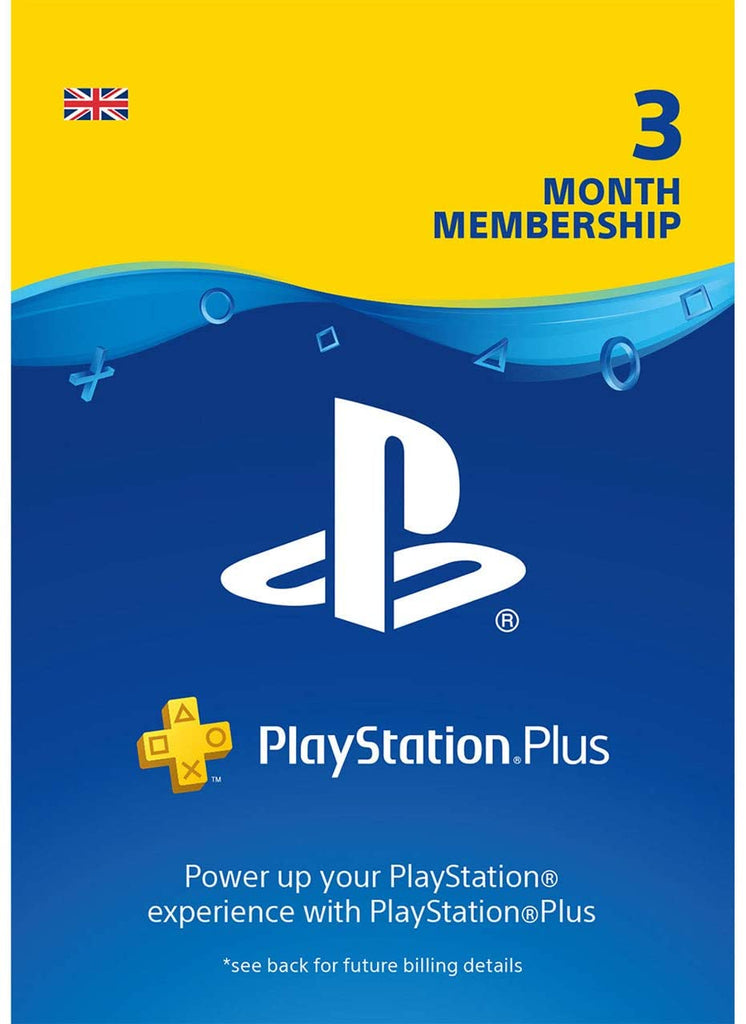Sony PlayStation Plus Card - 90 Day Subscription (PS4 / PS3 / PlayStation Vita)