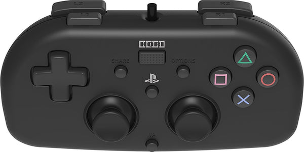 Hori PlayStation 4 Wired Controller  - Officially Licensed Mini Gamepad for Kids - Black