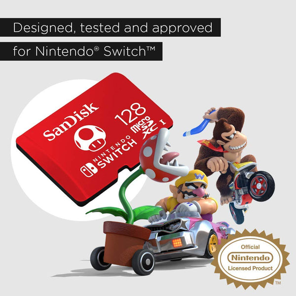 SanDisk microSDXC UHS-I Card for Nintendo Switch, 128 GB (SDSQXAO)