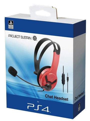 Official PS4 Wired Chat Headset - Red (PS4)