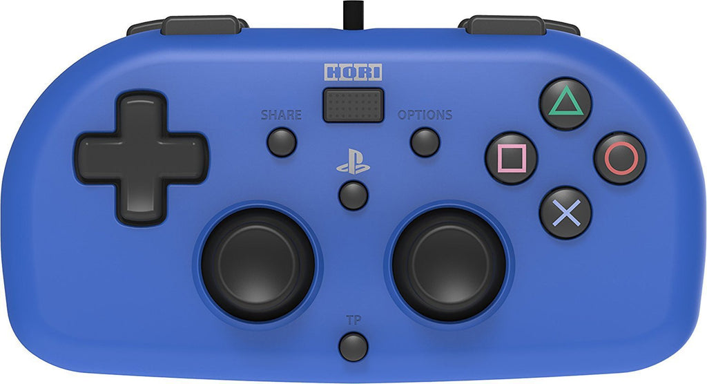 Hori PlayStation 4 Wired Controller - Officially Licensed Mini Gamepad for  Kids - Blue
