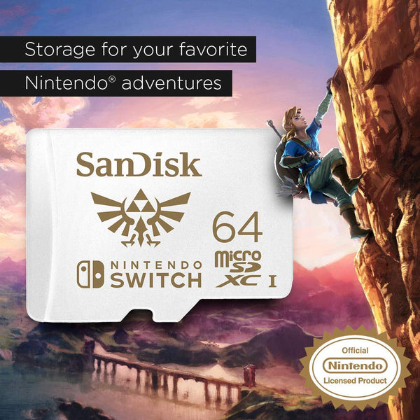 SanDisk microSDXC UHS-I Card for Nintendo Switch, 64GB (SDSQXAT)