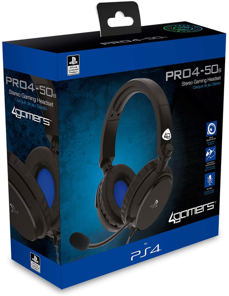 4Gamers PRO4-50s Stereo Gaming Headset - Black (PS4/PS5)