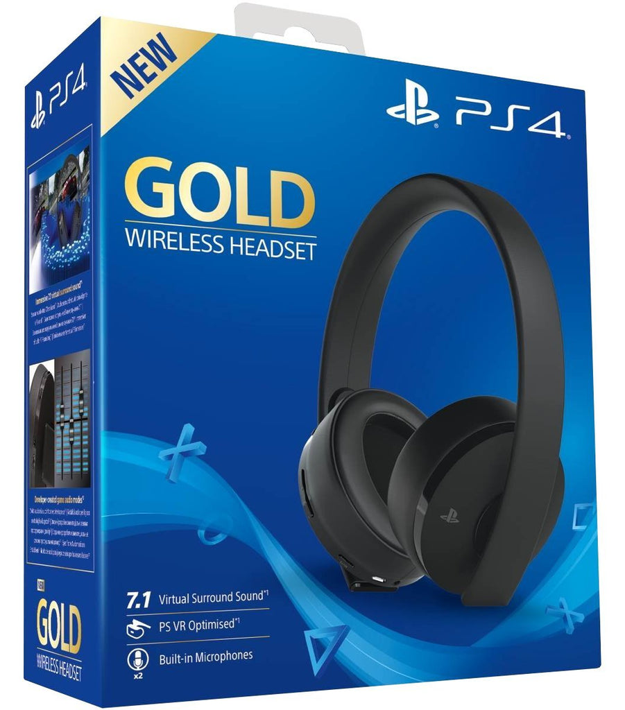 PlayStation 4 Gold Wireless Headset - Black
