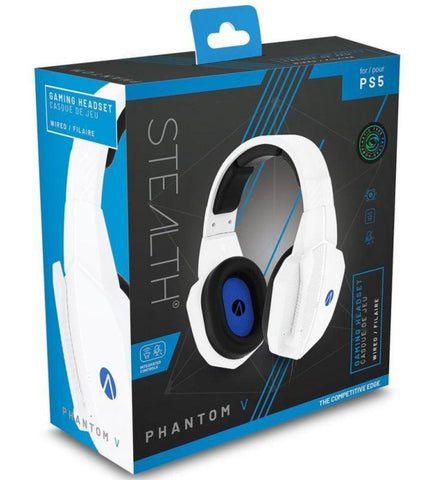 STEALTH SP-Phantom V Stereo Gaming Headset - White (PS5)