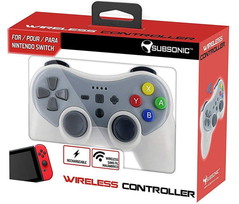 Subsonic Wireless Bluetooth Controller - Grey (Nintendo Switch)