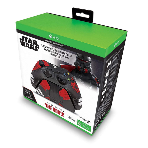 Xbox One Wireless Controller - Star Wars Purge Trooper + Pro Charge Stand Limited Edition