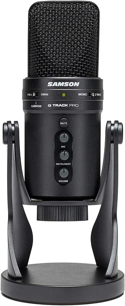 Samson G-Track Pro Professional USB Microphone with Audio Interface - Black